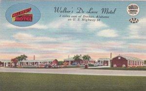 Alabama Dothan Walker's De Luxe Motel U S Highway 84 sk1766