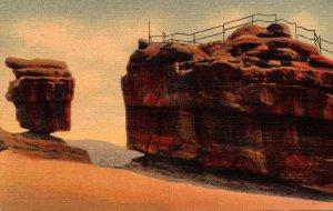 Colorado Pikes Peak Region Garden Of The Gods Balanced and Steamboat Rocks Cu...