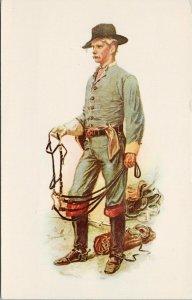 The Cavalryman William Sheppard Art Unused Vintage Curteich Postcard F63