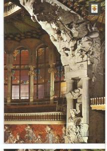 Postal 046315 : Busto de Beethoven y alegoria de la Walquiria de Wagner. Escu...