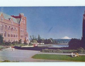 Unused 1950's CAMPUS AT UNIVERSITY OF WASHINGTON Seattle Washington WA r9057