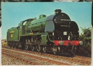 Postcard Transport Train Southern Railway 4-6-0 841 Greene King - unposted
