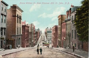 St. John NB New Brunswick Prince William Street Unused Postcard F57
