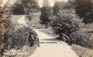 THE ROAD TO SUN SET HILL, V.C EARLY 1900'S. RPPC REAL PHOTO POSTCARD
