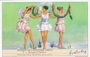 Liebig S1439 Ancient Greek Dances No 5 Danses de Helene