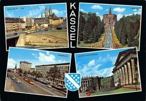 Kassel Standeplatz Schloss Wilhelmshohe Herkules Castle Cars Tram Postcard
