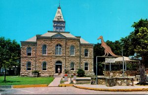 Texas Glen Rose Somerville County Court House Home Of The Dinosaurs