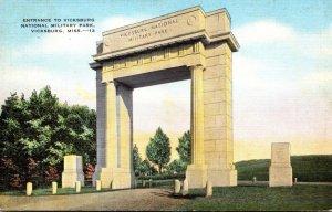 Mississippi Vicksburg Entrance To National Military Park