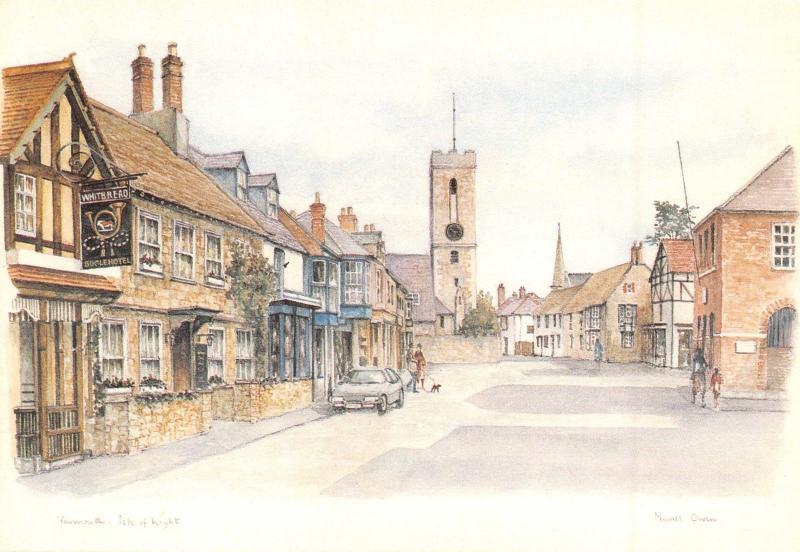 Isle of Wight Postcard Art, Yarmouth by Muriel Owen P88