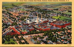 New York Rochester Aerial View Of Kodak Park Works Eastman Kodak Company Curt...