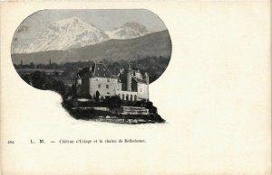 CPA Uriage - Chateau d'Uriage et la Chaine de Belledonne FRANCE (961764)
