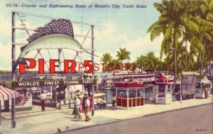 1960 PIER 5 - CHARTER AND SIGHT-SEEING BOATS, MIAMI'S CITY YACHT BASIN