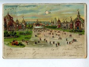 206642 FRANCE PARIS EXPOSITION Vintage HOLD-to-LIGHT postcard
