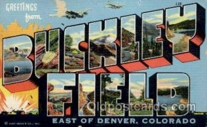 Buckley Field, Denver, Colorado Large Letter Military Unused light wear and p...