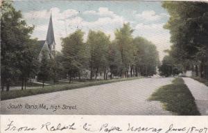 High Street, SOUTH PARIS, Maine, PU-1907