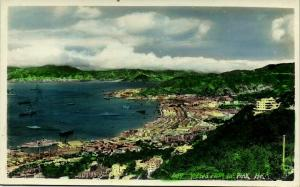 china, HONG KONG, Views from the Peak (1950s) Tinted RPPC