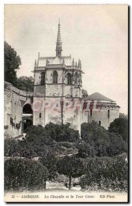Old Postcard Amboise La Chapelle and La Tour Cesar