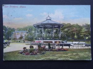 Yorkshire RIPON Spa Gardens Bandstand c1904 Postcard by J & S