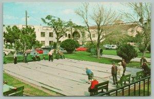 Rio Grande Valley Texas~Visitors~Favorite Past times~Shuffle-boarding~Postcard