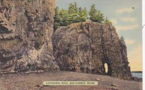 Maine Bar Harbor Cathedral Rock 1941