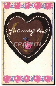 Old Postcard Fancy Heart