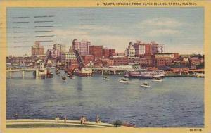 Florida Tampa Skyline From Davis Island