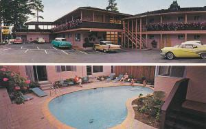 CARMEL, California, 1940-1960's; 2-Views, Swimming Pool, Town House Lodge