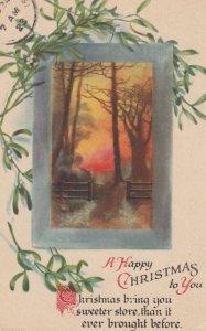 CHRISTMAS Winter Scene #3 , 1900-10s ; Clapsaddle