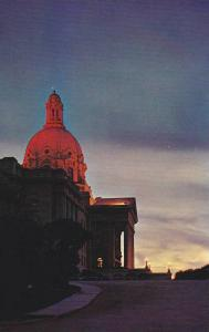Sunset View Of The Alberta, Legislative Building, Edmonton, Alberta, Canada, ...