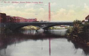 Michigan Avenue Bridge, Lansing, Michigan, PU-1911