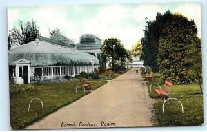 Botanic Gardens Dublin Ireland Observatory Greenhouse Vintage Postcard B49