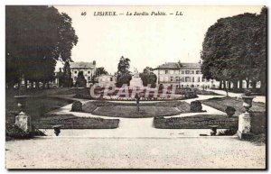 Old Postcard Lisieux The public garden