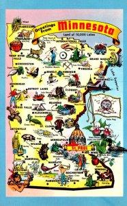 Minnesota Greetings With Map