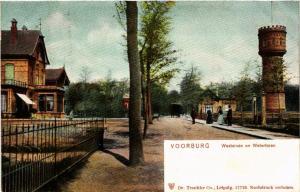 CPA VOORBURG Westeinde en Watertoren NETHERLANDS (602176)