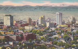 Colordao Denver Panoramic View 1960