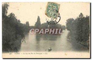 Old Postcard Paris Lake Bois de Boulogne