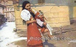 Artist Douba, Joy Postcard Post Card Old Vintage Antique unused
