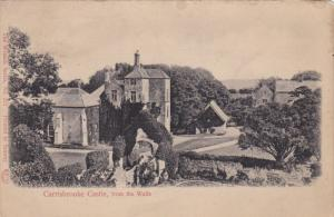 ISLE OF WIGHT, England, 1900-1910's; Carrisbrooke Castle, From The Walls
