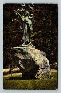 Portland OR-Oregon, Statue In City Park, Vintage c1910 Postcard