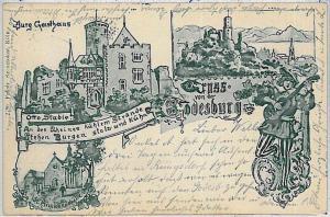 Ansichtskarte  VINTAGE POSTCARD: GERMANY -   GRUSS AUS Godesburg - 1898 - NICE!!