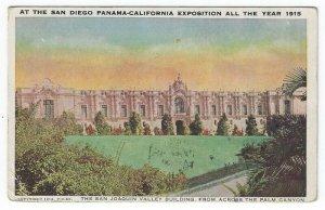 1915 San Diego Panama-California Exposition PC,  The San Joaquin Valley Building