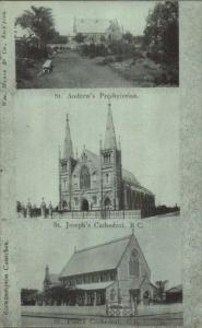 Rockhampton Queensland Australia Churches USED Postcard jrf