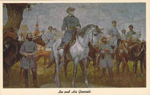 AS: Lee and His Generals, Painted by the distinguished French Artist Charles ...