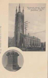BALTIMORE, Maryland,1901-07; Westminster Church, Burial Place of Edgar Allan Poe