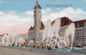 Fountain In Union Station Plaza Saint Louis Missouri 1942