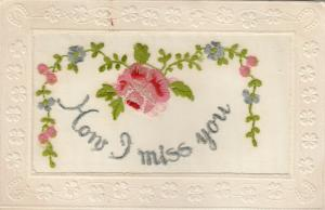 Hand Sewn, 1900-10s; How I miss you, arch of flowers