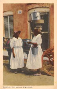 Barbados BWI Mawby Girl with Container on Head Vintage Postcard JD933777