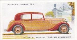 Player Cigarette Card Motor Cars 2nd Series No 41 Siddeley Special Touring Li...