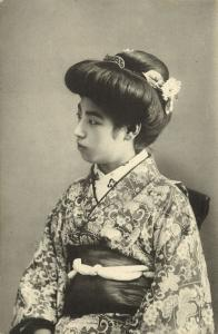 Japan, Beautiful GEISHA Lady in Kimono (1910s) Naniwaya