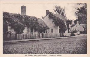 Massachusetts Rockport Old Houses Near The Harbor Albertype